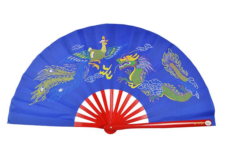 Éventail Tai Chi (Tai Ji Shan) Dragon And Phoenix