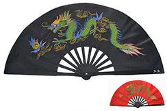 Abánico Chi Tai Metal (Gama Alta) Dragón