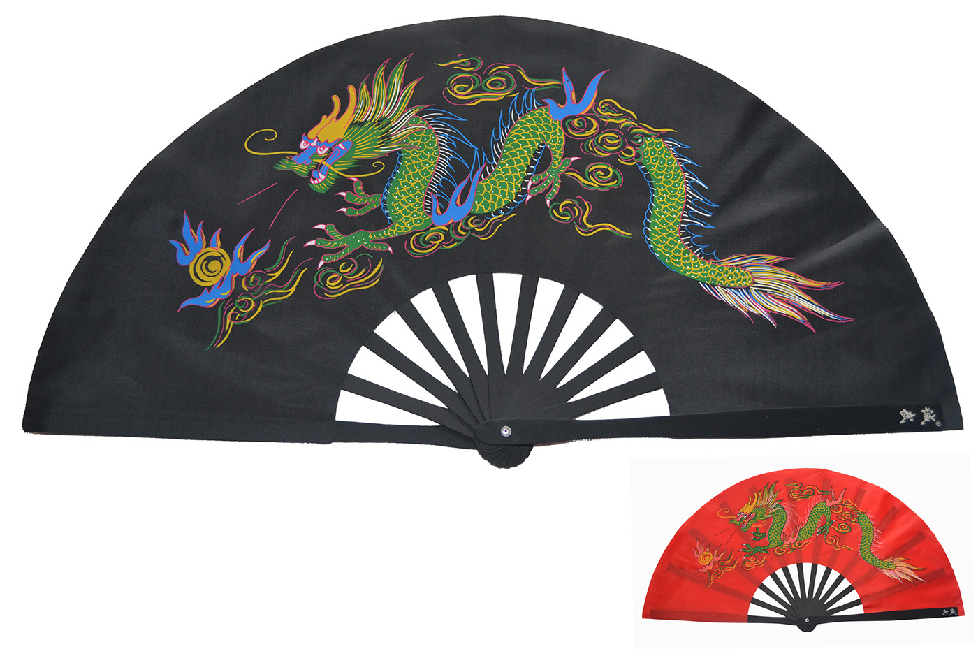 Éventail Tai Chi Métal (Haut De Gamme) Dragon