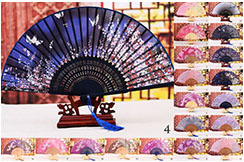 Bamboo and Damask Fan 2