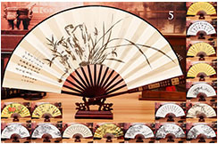 Bamboo and Damask Fan 4