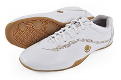 Zapatos 'Hua Jin' blanco y oro