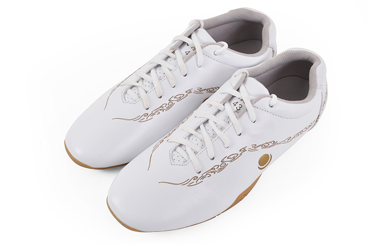 Chaussures «Hua Jin» Blanches Et Or