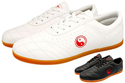 Double Star Taiji Shoes, Red Yin Yang