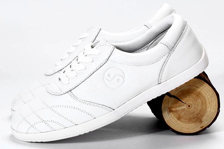 CJQ Taiji Shoes, Leather Yin Yang