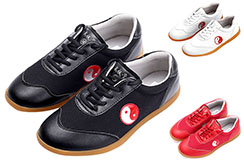 WJT Taiji Shoes, Red Yin Yang