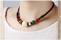 Necklace, White Bodhi