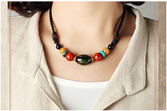 Coloured Glaze Necklace 3