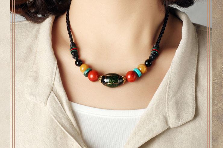 Collier, Perles de Verre 3