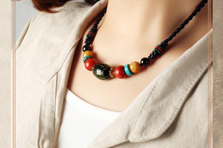 Coloured Glaze Necklace 3