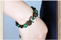 Cloisonne and Agate Bracelet