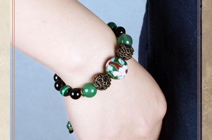 Bracelet Cloisonné et Agate