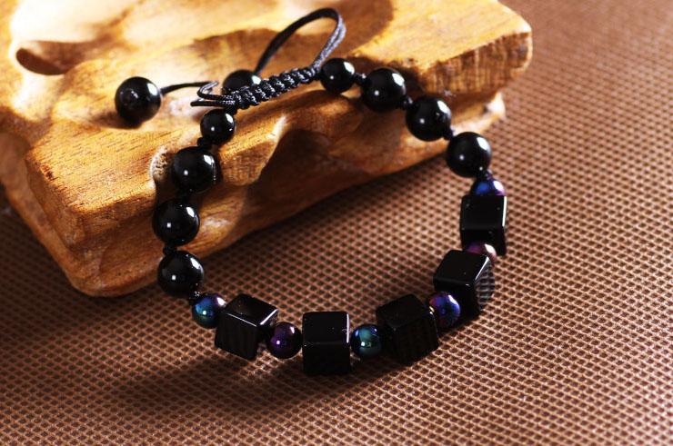 Bracelet, Black Agate