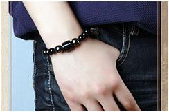 Bracelet, Black Agate 2