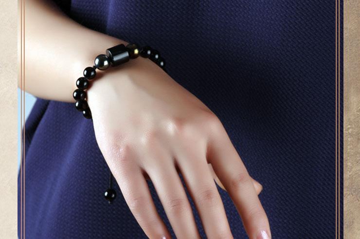 Bracelet, Agate Noir 2