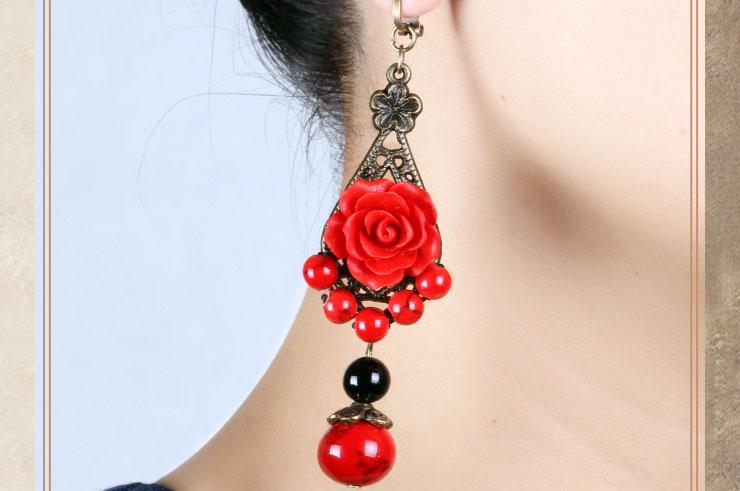 Flower earrings 1