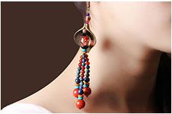 Earring, Multi-color