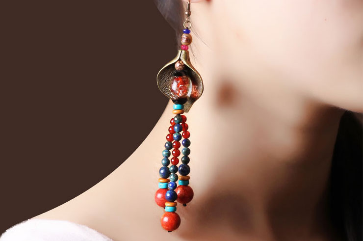 Earring, Multi-color