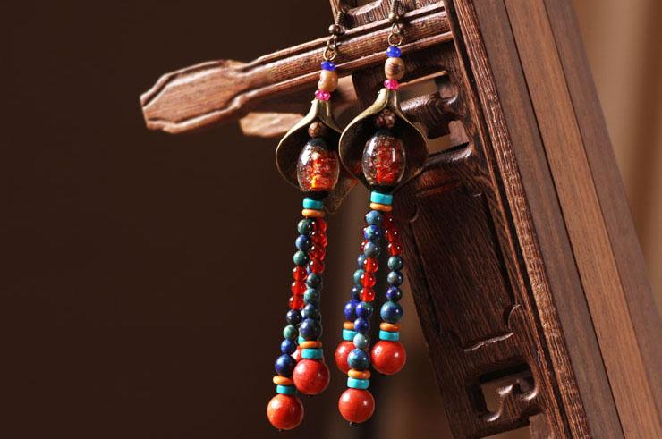 Boucle d'oreille Multi-couleur