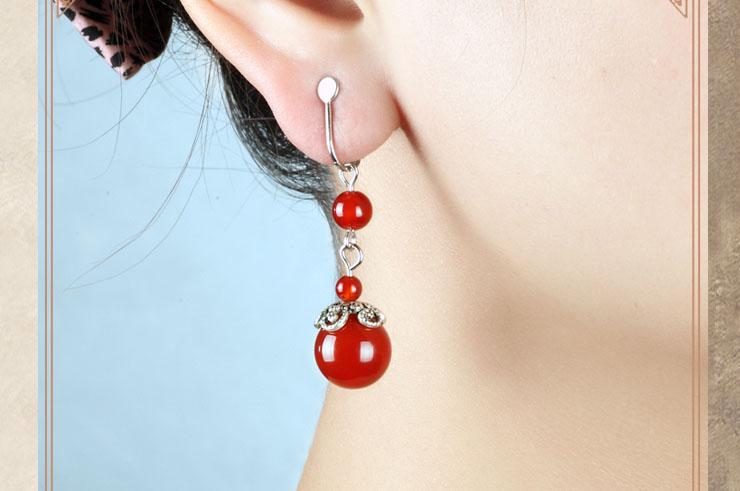 Boucle d'oreille Agate 1