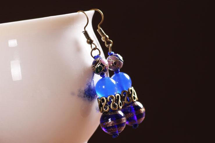 Cloisonne Earring