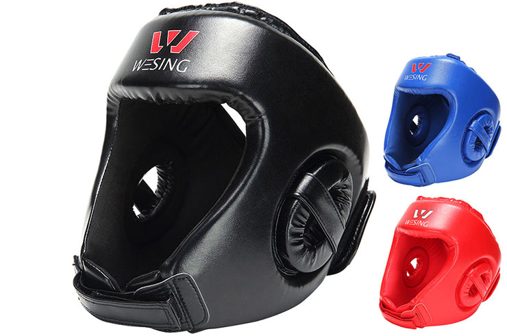 Casque de Protection Sanda (PU, Imitation Cuir) Wesing