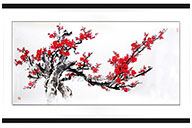 Chinese Painting Red Plum 1