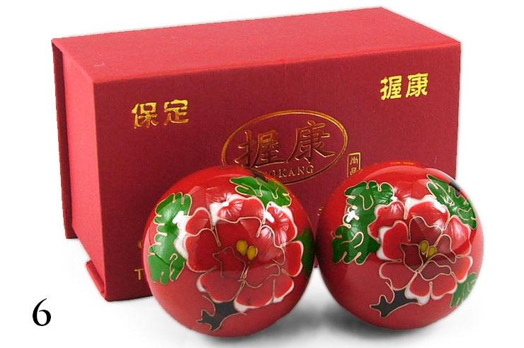 Boules Qi Gong émaillées 1