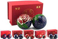 Boules Qi Gong émaillées 2
