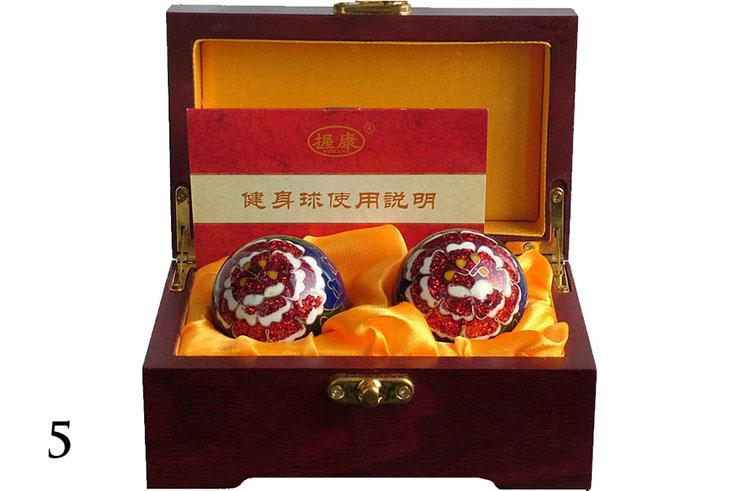 Boules Qi Gong émaillées 3