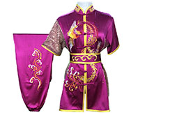 HanCui Chang Quan Competition Uniform, Fuchsia Phoenix