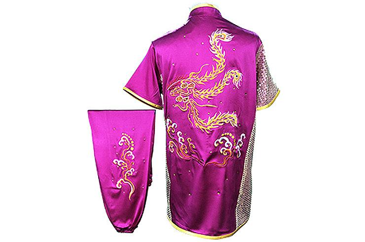 HanCui Chang Quan Competition Uniform, Fuchsia Phoenix