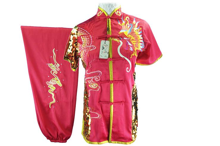 HanCui Chang Quan Competition Uniform, Pink Dragon