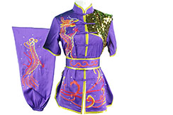 HanCui Chang Quan Competition Uniform, Purple & Red Dragon