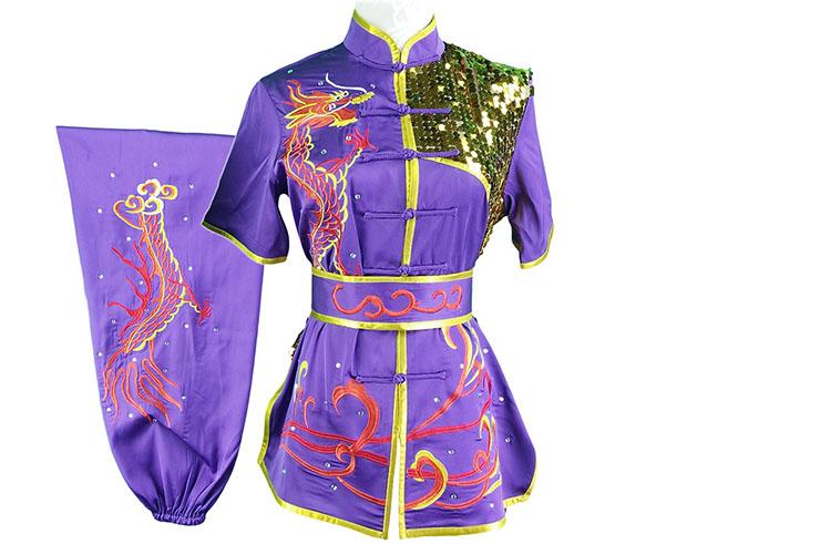HanCui Chang Quan Competition Uniform, Purple & Red Dragon