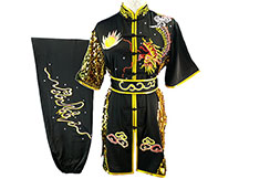 HanCui Chang Quan Competition Uniform, Black & Gold Dragon 1