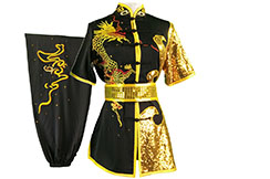 HanCui Chang Quan Competition Uniform, Black & Gold Dragon 2
