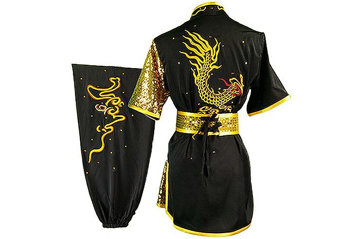 HanCui Chang Quan Competition Uniform, Black & Gold Dragon 2