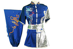 HanCui Chang Quan Competition Uniform, Blue & Silver Dragon 1