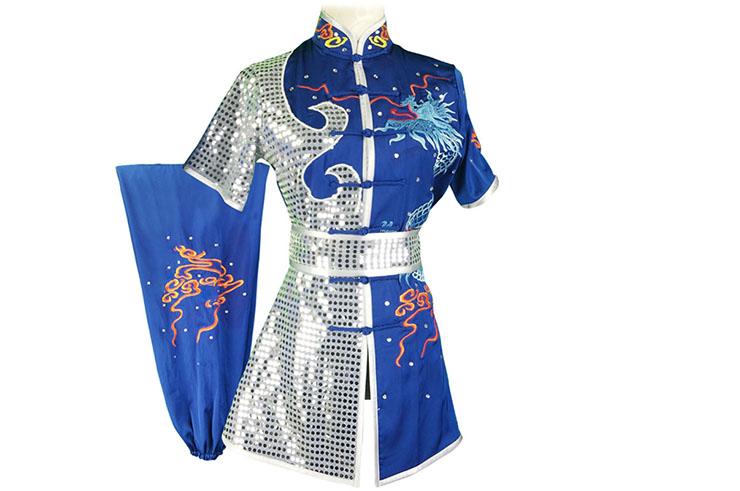 HanCui Chang Quan Competition Uniform, Blue & Silver Dragon 2