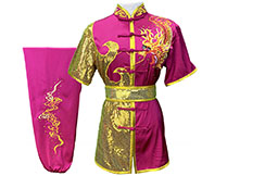 HanCui Chang Quan Competition Uniform, Fuchsia Dragon