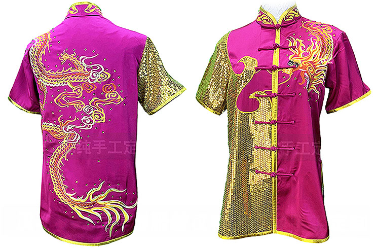HanCui Chang Quan Competition Uniform, Fuchsia Dragon