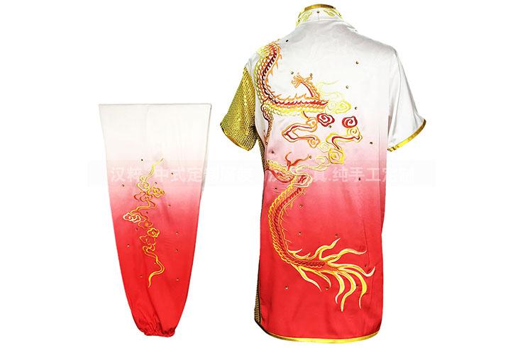 Traje competición Chang Quan HanCui, Dragón Gradiente Blanco y Rojo