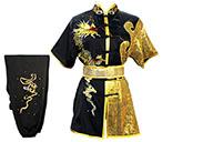 HanCui Chang Quan Competition Uniform, Black & Gold Dragon 4