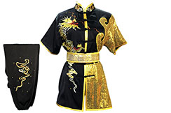 HanCui Chang Quan Competition Uniform, Black & Gold Dragon 4