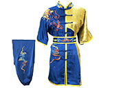 HanCui Chang Quan Competition Uniform, Blue & Gold Dragon 1