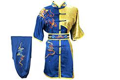 HanCui Chang Quan Competition Uniform, Blue & Gold Dragon 1