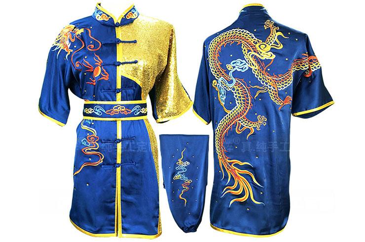 Tenue Compétition Chang Quan HanCui, Dragon Bleu & Or 1