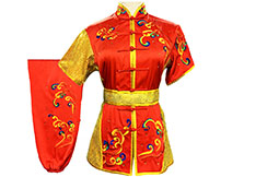 HanCui Chang Quan Competition Uniform, Red & Gold Clouds