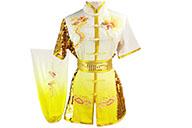 Tenue Compétition Chang Quan HanCui, Dragon Dégradé Blanc & Jaune